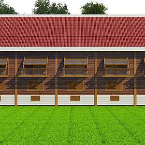 3d鴿子屋舍模型
