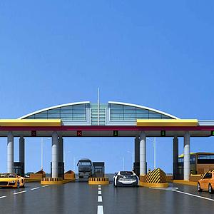現代高速收費站模型