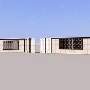 3d端景墙模型
