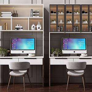 3d现代写字书桌模型