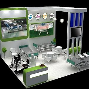 現代器材展廳模型