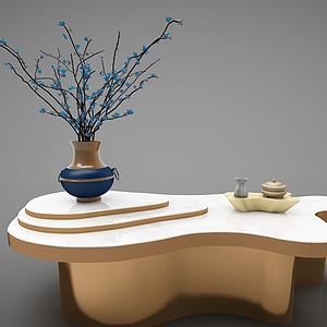 新中式茶几模型