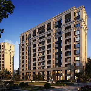 3d新古典住宅模型