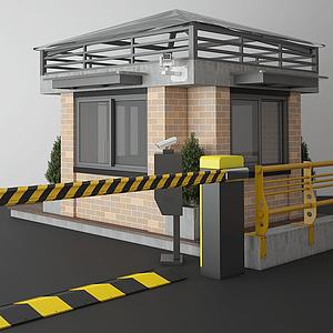 停車場收費亭模型