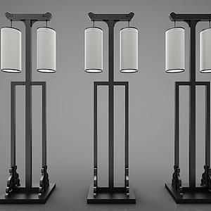 新中式風格燈具模型