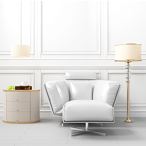 3d后現代單人沙發模型