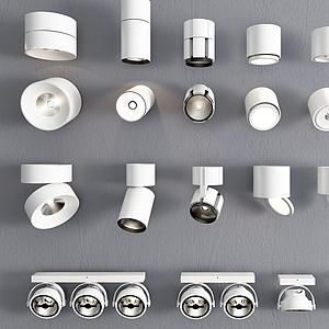 筒燈導軌射燈模型