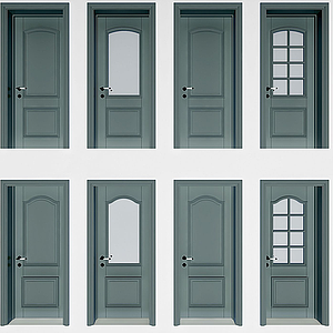 現代平開門模型