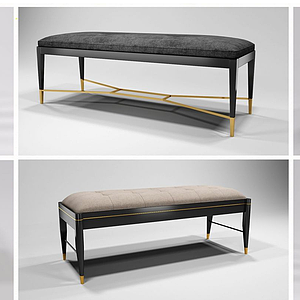 新中式凳組合模型