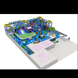 海洋風格游樂園模型