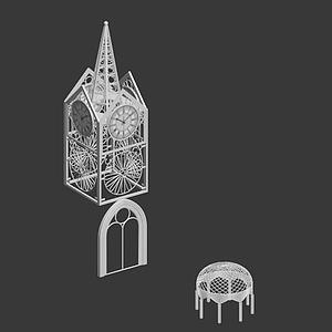 3d欧式婚礼构件模型