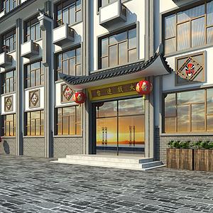 3d徽派建筑模型
