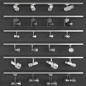 導軌射燈筒燈3d模型