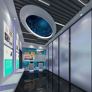 科技展廳3d模型