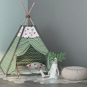 現代兒童帳篷模型