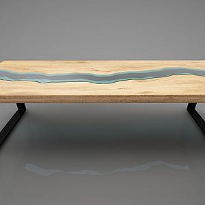 木質桌子模型