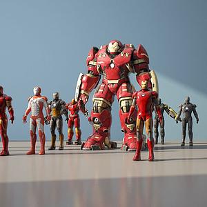 3d鋼鐵俠模型
