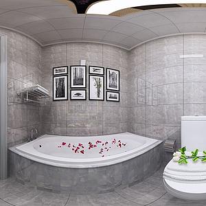 3d現代衛生間模型