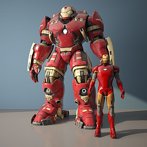 3d钢铁侠模型