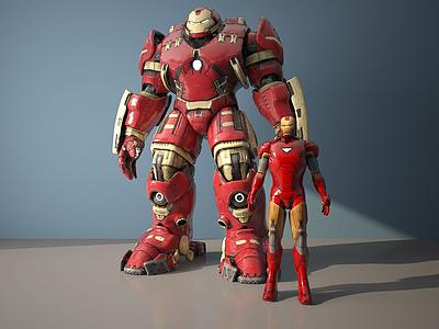 C4D鋼鐵俠3d模型