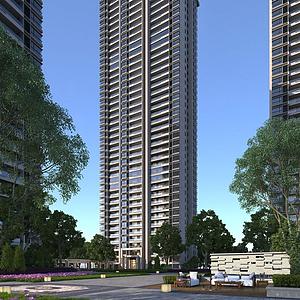 3d住宅樓模型