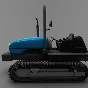 3d現代壓路機模型