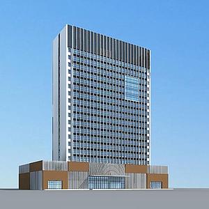 3d现代酒店<font class='myIsRed'>大楼</font>模型