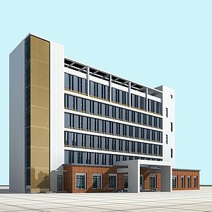 3d现代<font class='myIsRed'>办公楼</font>模型