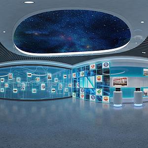 科技展廳展館3d模型