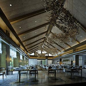 3d餐飲空間模型