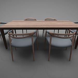 新中式风格餐桌模型
