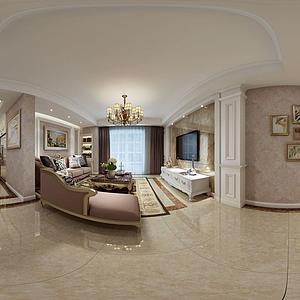 歐式客廳模型