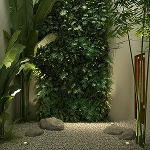 庭院植物模型