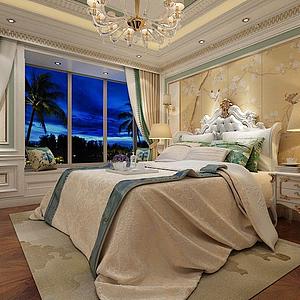 歐式臥室模型