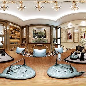 歐式客餐廳臥室模型