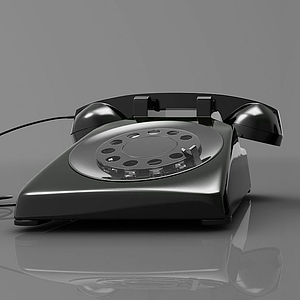 3d現代風格<font class='myIsRed'>電話</font>模型
