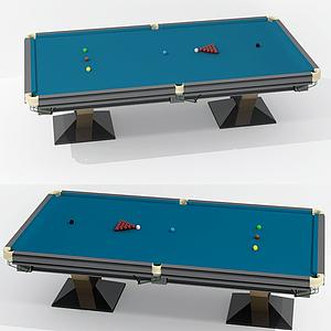 現代臺球桌模型