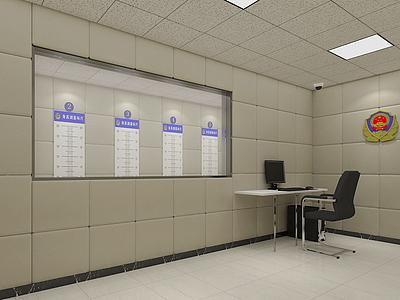 3d派出所辨認室模型