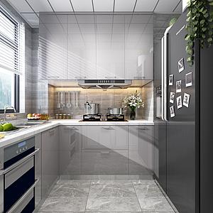 現代廚房模型