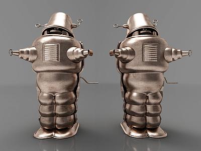 3d現代機器人擺件模型
