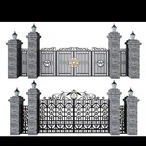 鐵藝大門組合模型