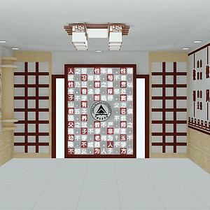 3d學校大廳模型