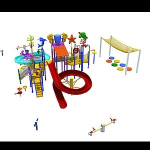 3d水上樂園滑<font class='myIsRed'>滑梯</font>模型