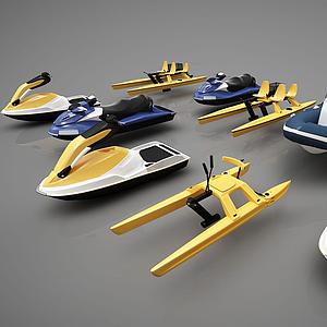 創意小船組合模型