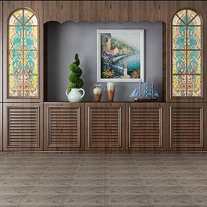 3d家具组合柜子模型