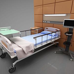 病床3d模型