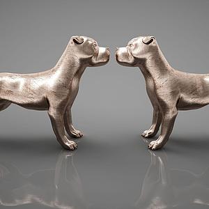 3d动物狗摆件模型