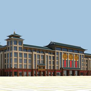 中式商場模型