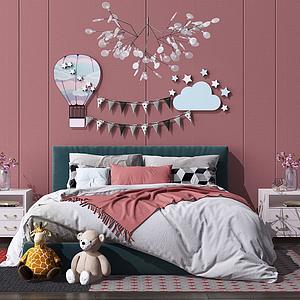 3d歐式床<font class='myIsRed'>兒童床</font>模型