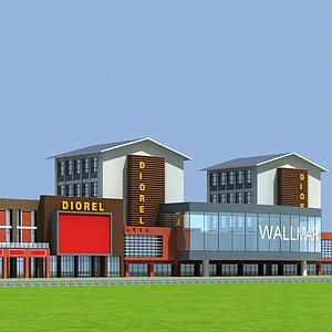 現代商業街模型